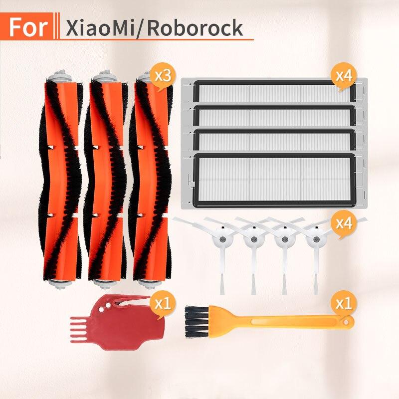 Vacuum Cleaner Side Brush Main Brush HEPA Filter Accessories For Xiaomi 1 2 Roborock S6 S50 S51 Robot Vacuum Cleaner Parts Mi