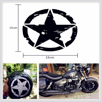 styling ARMY Star Decals Motorcycle Stickers Vinyl for SUZUKI GSF600 Bandit GS1000 GS500E GS550M GSX1100F Katana image