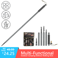Ultralight Outdoor Defense Tactical Stick for outdoor Camping Multi-functional Aluminium Alloy Walking Sticks Alpenstock