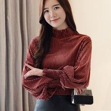 Рождественская рубашка с длинным рукавом женская блузка модель
