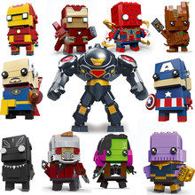 Decool Compatibile brickheadz avenger 3 Infinity Guerra Marvel super hero Guardiani di mattoni teste headz building block set(China)