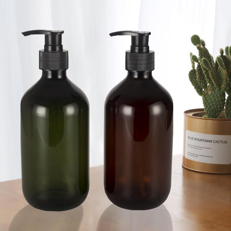 300ml Travel Lotion Shampoo Shower Gel Holder Soap Dispenser Empty Bath Pump Bottle Refillable Bottle Liquid Dispenser Container