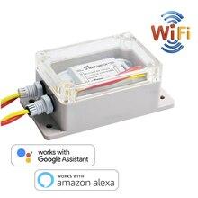 WiFi 미니 스위치 차단기, 타이밍 기능이있는 원격 제어 인터럽터 어댑터, Alexa google과 호환되는 스마트 홈 오토메이션