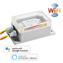 WiFi Mini Switch Breaker, Remote Control Interruptor Adapter with Timming, Smart Home Automation Compatible with Alexa Google