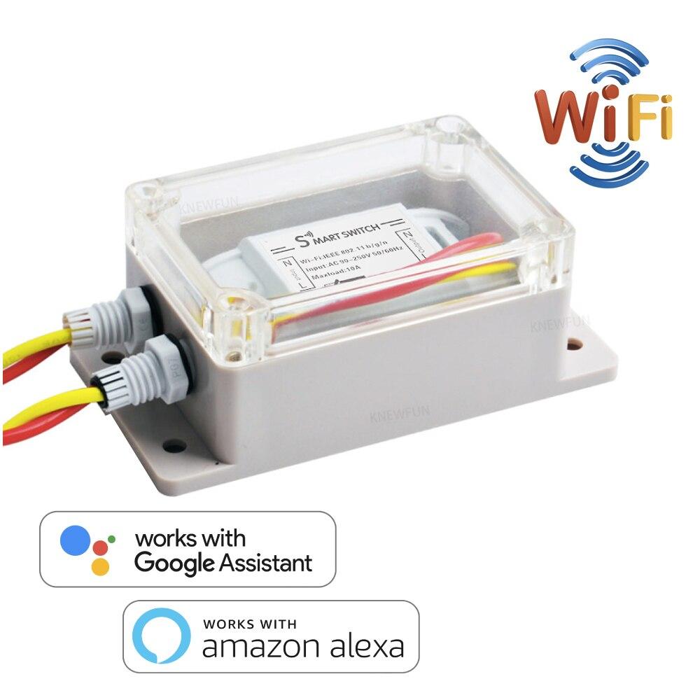 Wifi mini interruptor, interruptor de controle remoto adaptador com temporizador, universal automação residencial inteligente 10a compatível com alexa/google