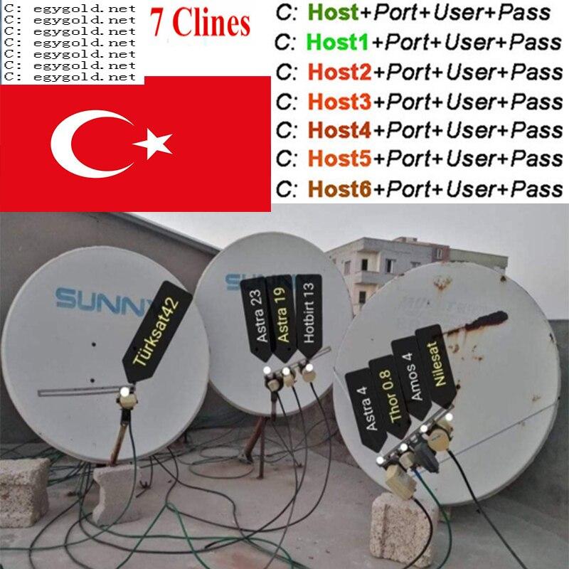 Spain Cccam Europa Server 1 Year Portugal Germany Poland Satellite Tv Receiver 7Clines For DVB-S2 X800 X800S IPS2 V7s V8 Nova V9