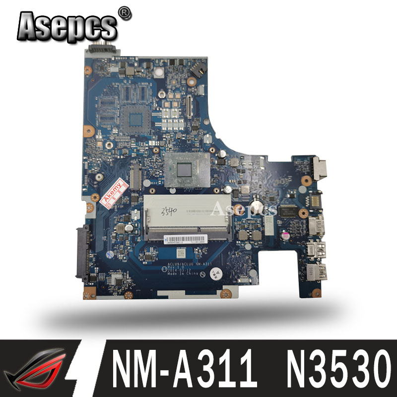 Brand New !!! ACLU9 / ACLU0 NM-A311 Motherboard for <font><b>Lenovo</b></font> <font><b>G50</b></font>-30 laptop Motherboard ( for intel N3530 CPU ) 100% tested image