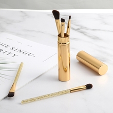 New 5pcs Eye Makeup Set Eyeshadow Eyebrow Brush Flat Head Brush Angled Brush Foundation Brush Cosmetic Brush Kit цена