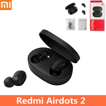 Xiaomi Redmi Airdots 2 TWS Bluetooth 5.0 Earphones Noise Reduction Earphone Stereo Bass Headsets With Mic Handsfree Earbuds