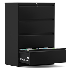 Filing-Cabinet Anti-Tilt Multifunctional Steel Four-Drawer And Black Durable Solid