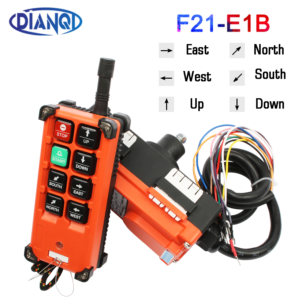 Color: Classic Version, Voltage: DC 36V 1 receiver F21-E1B - 220V 380V 110V 12V 24V Industrial remote controller switches Hoist Crane Control Lift Crane 1 transmitter Fotcus