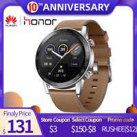 En STOCK, versión Global, reloj mágico Honor 2 46MM 5ATM, resistente al agua, reloj inteligente GPS para hombres con llamada Bluetooth, música para Android