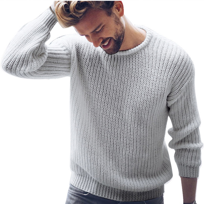 Men Brand Sweater Black White Casual Knitted Pullover Solid O Neck Men Sweaters Fashion Streetwear Autumn Winter Tops