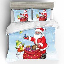 купить Home Textiles Bed Linen Set Christmas Luxury Kid Qualified Couple King Size Bedding Set Duvets And Linen Sets Bed Linen Cotton дешево