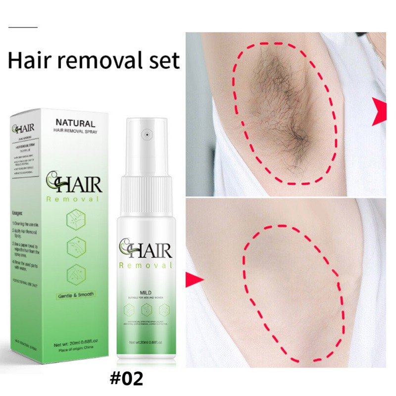 New Painless Hair Growth Inhibition Spray Facial Permanent Hair Removal Essence Beard Legs Armpit Smooth Repair Skin Spray