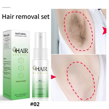 New Painless Hair Growth Inhibition Spray Facial Permanent Hair Removal Essence Beard Legs Armpit Smooth Repair Skin Spray 30ml hair growth removal inhibitor permanent painless armpit essence facial pubic spray skin beard legs growth hair stop sm t0f9