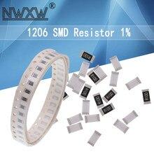100 Uds 1206 SMD resistencia 1% 0R ~ 10M 1/4W 0 1 1 10 100, 150, 220, 330 ohm K 2,2 K 100K 0R 10 47r 82K 1R 10R 100R 150R 220R 330R