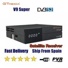 新しいgtmedia V9スーパー衛星放送受信機freesat V9スーパー更新gtmedia V8ノヴァV8スーパー内蔵した無線lanなしアプリ付属