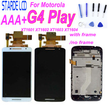 купить For Motorola G4 Play LCD Display Touch Screen Digitizer Assembly With Frame For Moto XT1601 XT1602 XT1603 XT1604 LCDs Screen по цене 1160.91 рублей