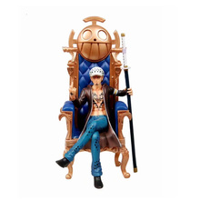 Anime One Piece Seven Warlords Of The Sea Trafalgar Law PVC Action Figure Doll Collectible Model Toy Christmas Gift For Children стоимость