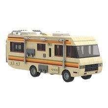 Klocki MOC-20606 Breaking Bad RV Model symulacja ciężarówka autobus samochód kolekcja filmów dla dzieci DIY cegły zabawki urodziny prezent