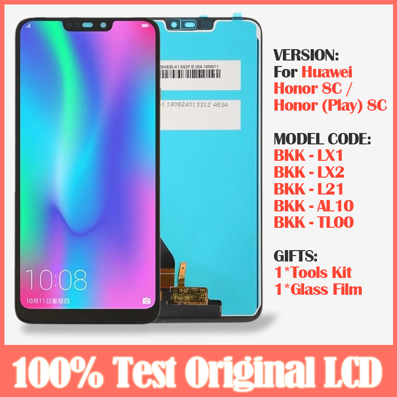 Original 6.26'' LCD For Huawei <font><b>Honor</b></font> <font><b>8C</b></font> BKK-AL10 BKK-L21 LCD <font><b>Display</b></font> +<font><b>Touch</b></font> <font><b>Screen</b></font> <font><b>With</b></font> Frame Replacement For <font><b>Honor</b></font> Paly <font><b>8C</b></font> LCD image