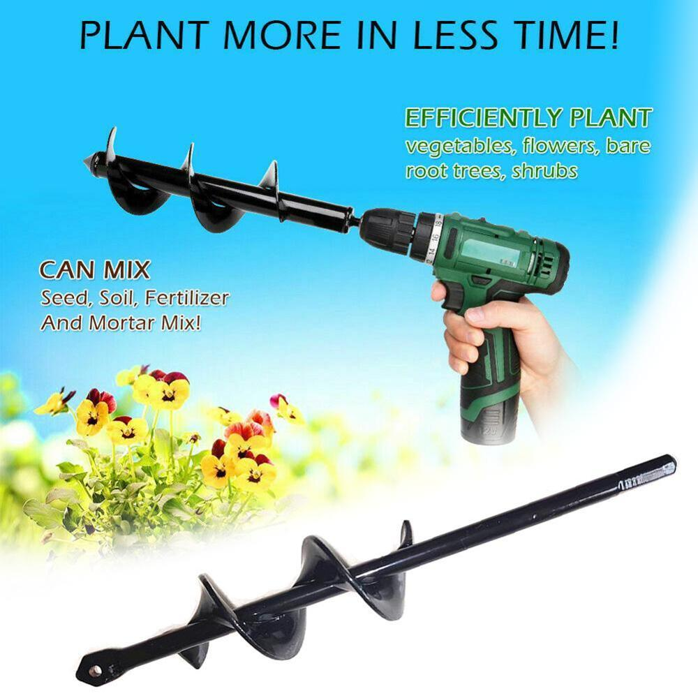 Spiral Drill Bit Heads For Digging Holes Garden Auger Spiral Drill Bit Hand Drill Electric Drill Ground Bit Irrigating Planting