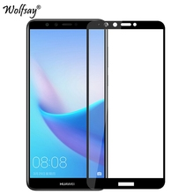2pcs Full Cover Glass For Huawei Y9 2018 Screen Protector Tempered Glass For