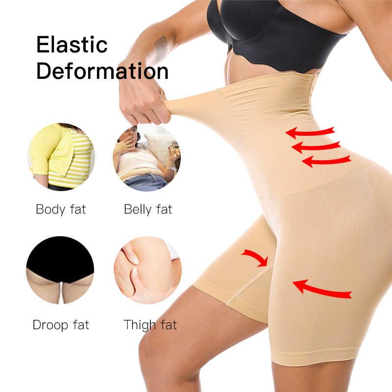 fajas reductoras y modeladoras mujer sin mujeres de cintura alta de adelgazamiento de abdomen bragas pantalón bragas ropa interior fajas talladora del cuerpo de la señora