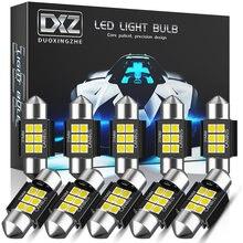 Dxz 10 pces Festoon-31MM c5w c10w lâmpadas led canbus 3030 6-smd nenhum erro interior do carro mapa dome luzes de leitura 12v/24v 3w lâmpada automática