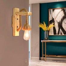 Винтажная деревянная настенная лампа artpad светодиодсветодиодный