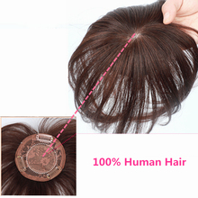 Halo Lady Beauty 100% Human Hair Bangs Straight Clip Hair Piece Indian For Hair Volume Non-Remy For Men Mild Hair Loss