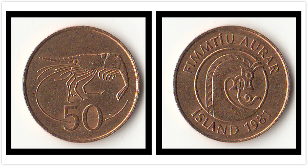Iceland 50 Aurar 1981 Edition 1981 Edition Coins Europe New Original Coin Commemorative Edition 100% Real Rare Eu Random Year