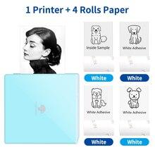 Phomemo M02 Mini Printer Sticker Maker DIY Photo Wireless Phone App Print Thermal No Ink Papel