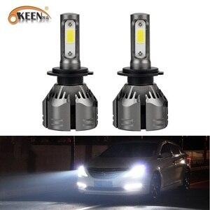 OKEEN супер яркий H7 H4 Автомобильный светодиодный фары для H1 H11 H3 9005 9006 H8 150W 12000LM 12V авто светодиодный налобный фонарь 24V свет лампа led чип