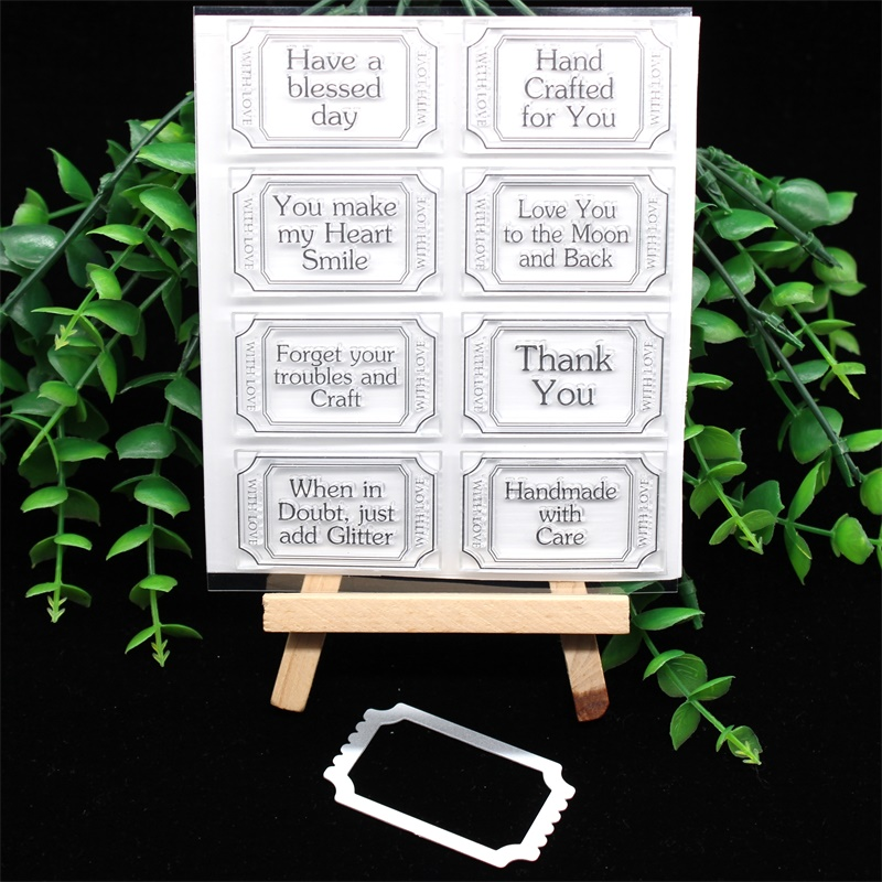 YPP CRAFT Crafty Love Tickets Metal Cutting Dies Or Stamp For DIY Scrapbooking/photo Album Decorative Embossing DIY Paper Cards