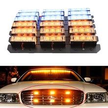Luz LED de emergencia para coche y camión, lámpara de advertencia intermitente de 3 modos, rojo, azul, amarillo, 2x9, 4x9, 6x9, 8x9