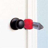 Fechadura de porta portátil anti roubo bloqueio de viagem bloqueio de porta à prova de crianças para a segurança casa e hotel|Fechaduras de portas| |  -