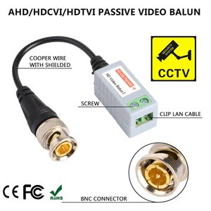 Image 2 - CCTV Camera Passive Video Balun BNC Connector Coaxial Cable Adapter for Security CCTV Analog camera DVR Systems