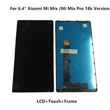 """Para 6.4 """"xiaomi mi mix/mi mix pro 18k versão display lcd + painel de toque digitador com moldura para mi mix exibir peças"""