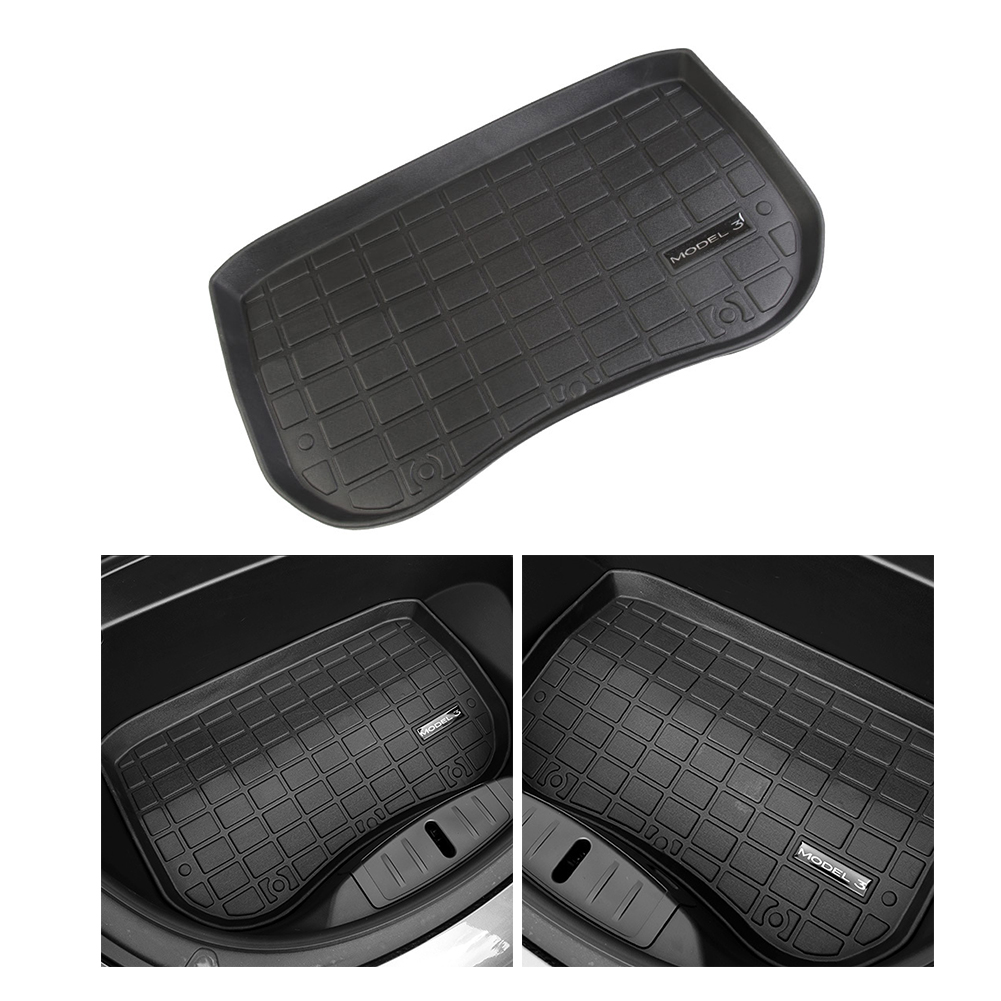 Car Accessories Trunk/Frunk Floor Mat Storage Mat All Weather Protection Heavy Duty Rubber Mat Compatible With Tesla Model 3