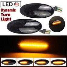 2Pcs LEDแบบไดนามิกเลี้ยวไฟสัญญาณด้านข้างลำดับไฟกระพริบสำหรับNissan Qashqai Dualis Juke MicraมีนาคมMicraหมายเหตุ