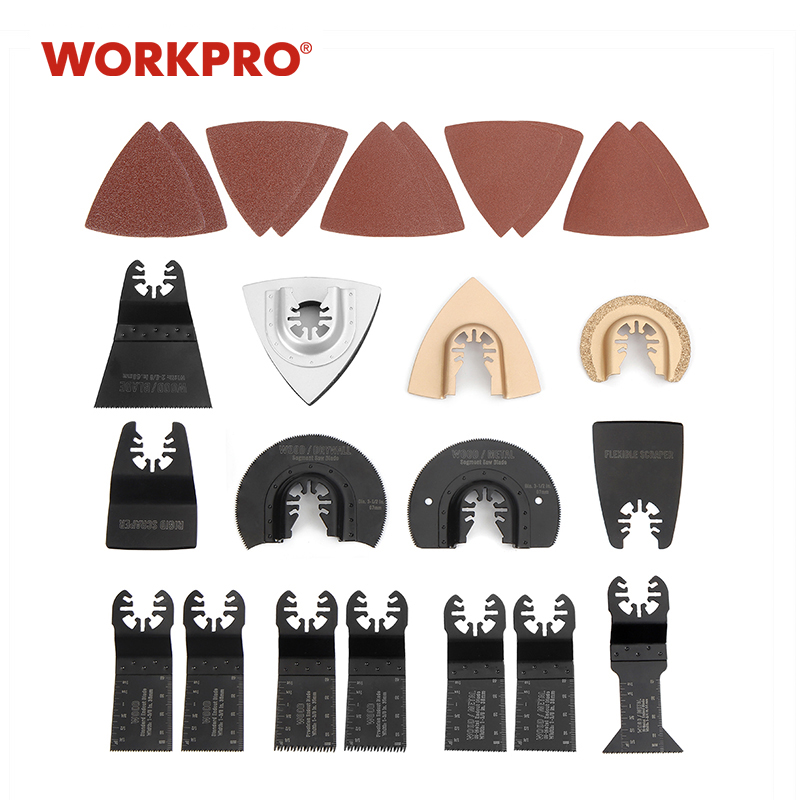 WORKPRO 25PC Saw Blades Multi Tool Oscillating Saw Blades For Dremel Bosch Quick Release Saw Blades For Metal/wood