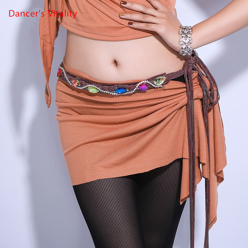 Women New Belly Dance Waist Chain Sense Rhinestone Oriental Dance Decoration Woman Dress Belt Belly Dance Waist Chain