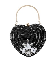 bags for women 2019,luxury  The new high-end pearl heart bag is a fashionable all-purpose chain party