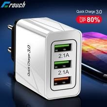 Crouch 18W Charge rapide 3.0 rapide USB chargeur pour Xiaomi Samsung s9 3U EU US Plug qc 3.0 mur voyage chargeur pour Huawei iPhone x(China)
