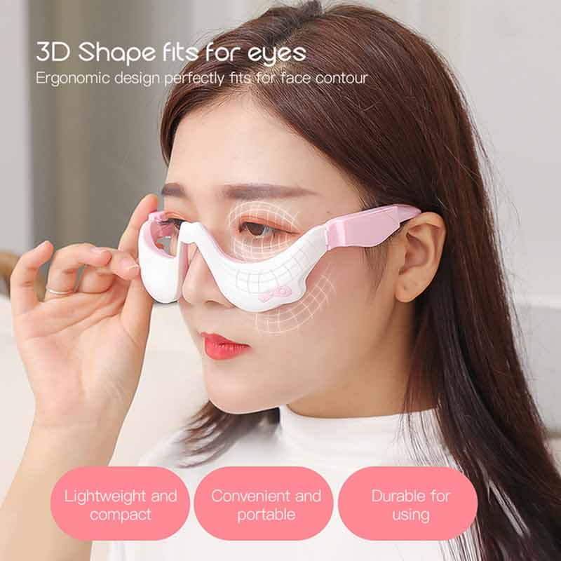 Electric Eye Massager Vibration Eye Massage Tool Eyes Fatigue Relief Wireless Anti Wrinkle USB Rechargeable Therapy Facial Skin