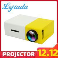 LEJIADA YG300 LED Mini Projector 320x240 Pixels Supports 1080P YG 300 HDMI USB 3.5mm Audio Portable Projector Home Media Player