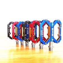 UltraLight bisiklet pedalı alüminyum alaşım CNC dağ bisiklet pedalları MTB yol bisiklet mühürlü 3 rulman pedallar bisiklet parçaları