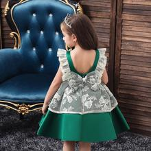 Children's dress Korean version of the new Child maid dress tutu dress Wedding host Little flower girl baby dress korean version of slim fashion in the big girl child sweat breathable spring new girl dress for3 13t